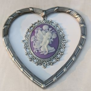 Framed jewelry art Cameo in vintage frame